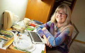 Donna Strickland, at her home in Waterloo, Ontario (Canada)